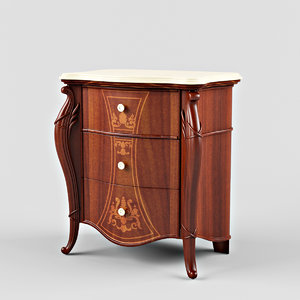 3d bedside table signorini model
