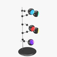 3d model of modern floor lamp lights