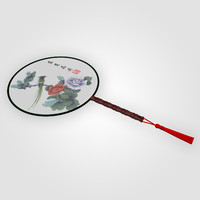 Chinese Traditional Palace Round Hand Fan
