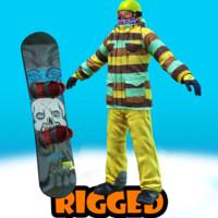 snowboarder Jack rigged
