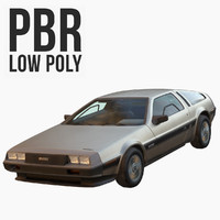 DMC DeLorean Low Poly