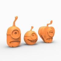 print minion pumpkin 3ds