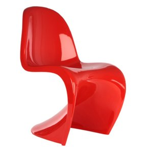 red panton chair 3ds
