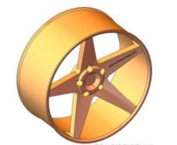 17 rim racing wheel 3d 3ds