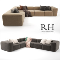 RH Fulham Upholstered Customizable Sectional