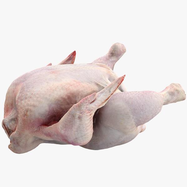 raw chicken 3d lwo