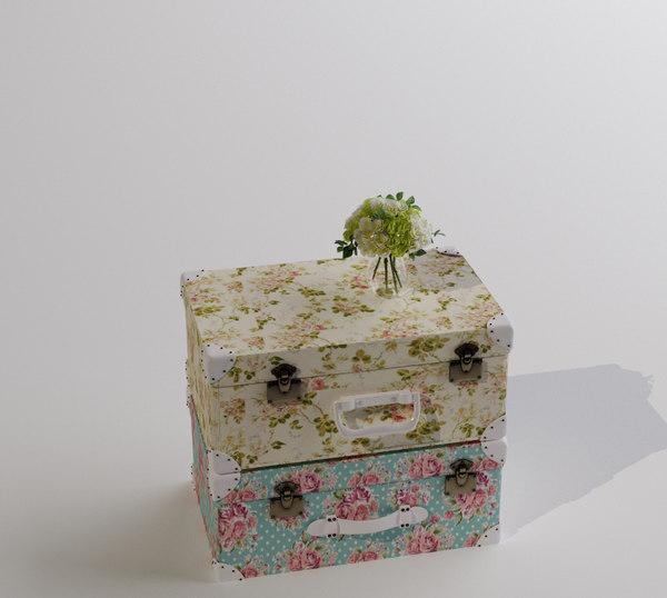 max suitcase flower