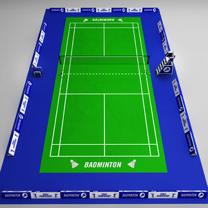 3d badminton court arena model