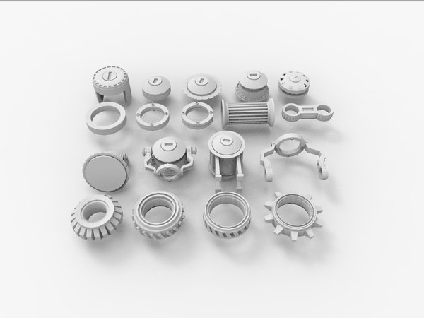 3ds max gears cogs bolts