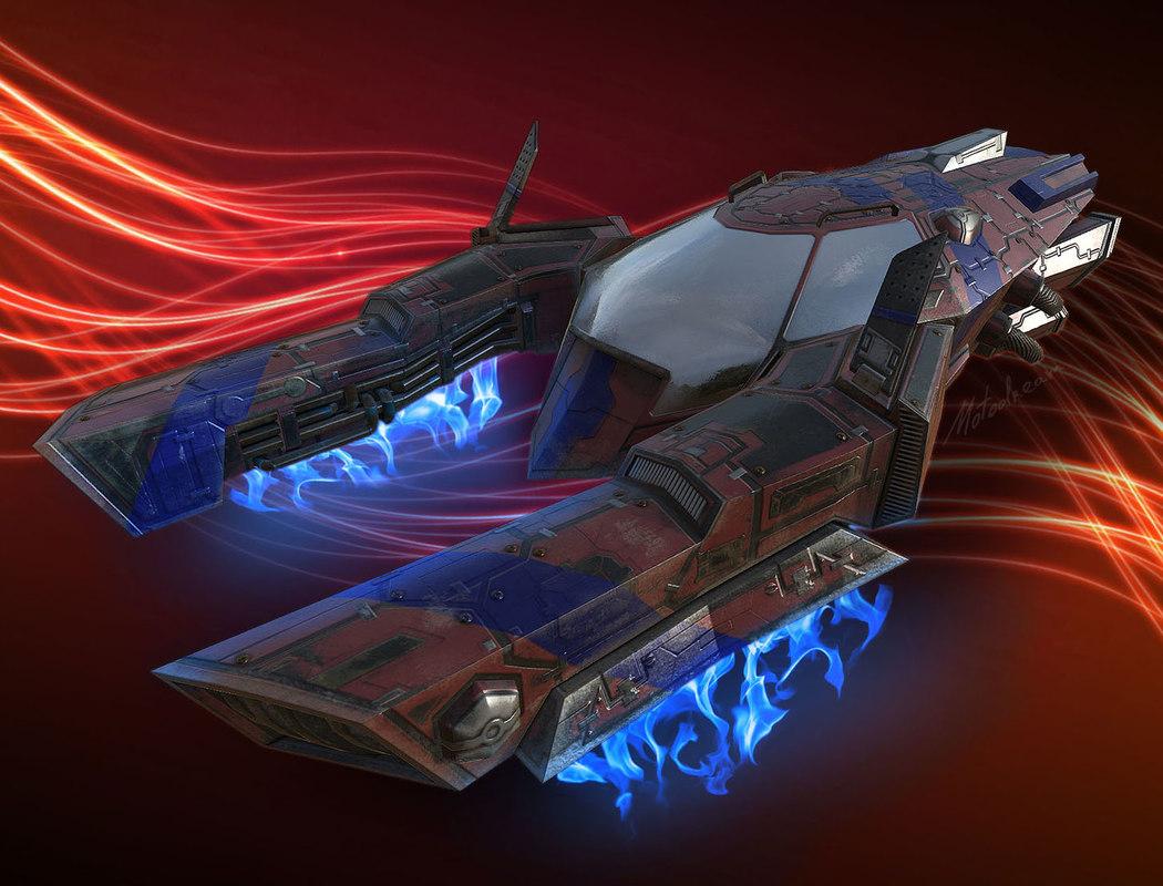 sci-fi race vehicle obj