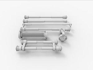 3d model hydraulics mechanical industrial