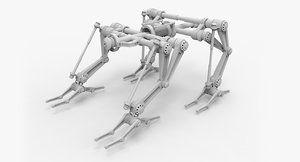 structural frame mech industrial 3ds