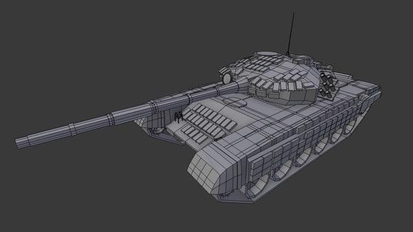 t-72 tank 3d model