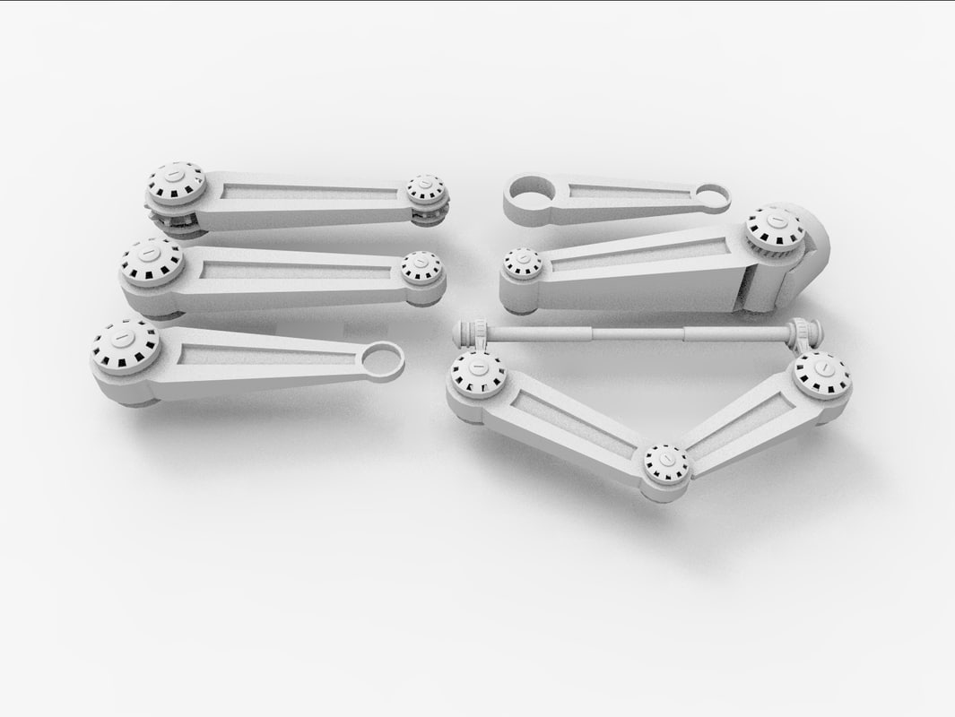 3d model mechanical armatures joints