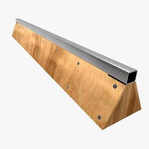 skateboard rail2 3d 3ds