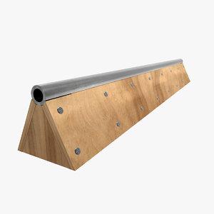 skateboard rail1 3d 3ds