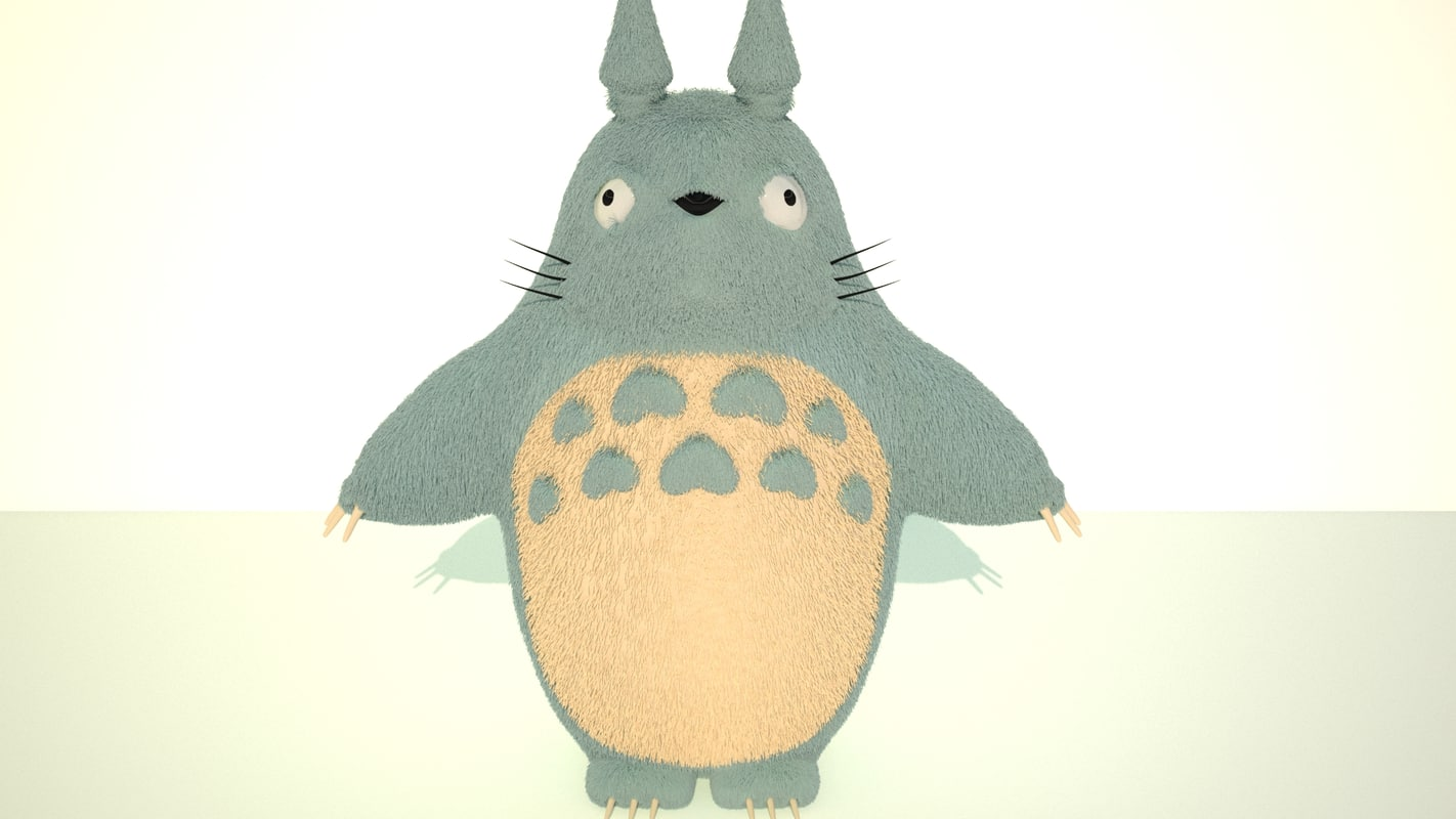 free totoro character anime 3d model