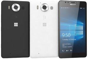 microsoft lumia 950 black 3d model