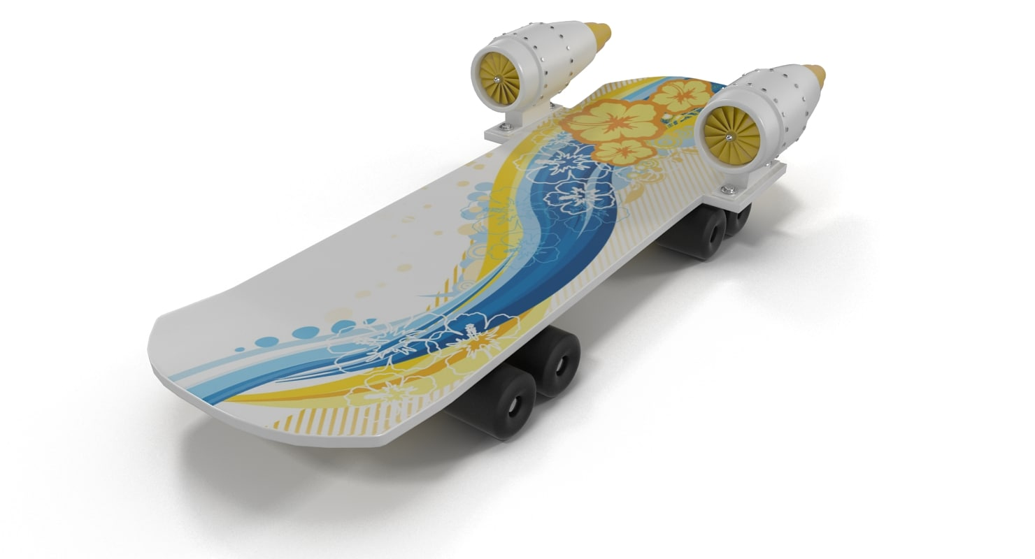 3d jet skateboard
