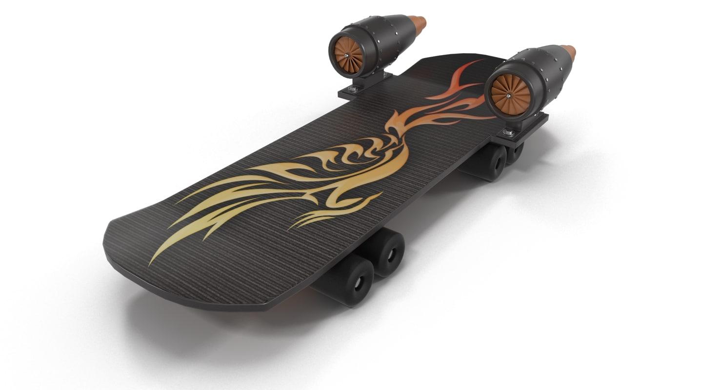 jet skateboard 3d model