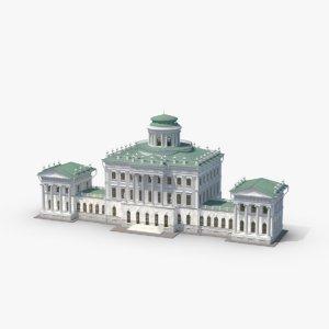 pashkov historic landmark building design 3d model