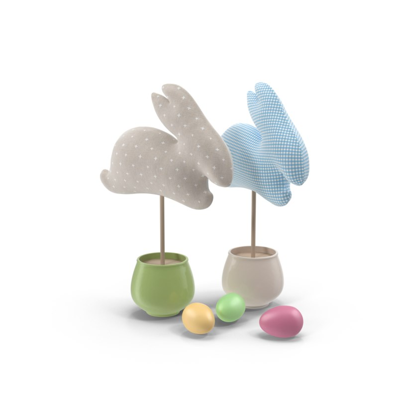 easter decoration bunny 3d 3ds