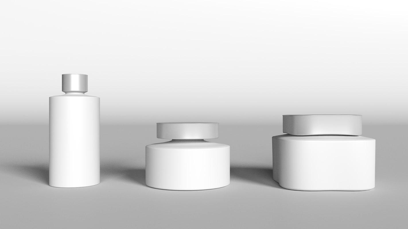 3d bathroom container set model