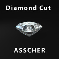3d obj asscher diamond cut