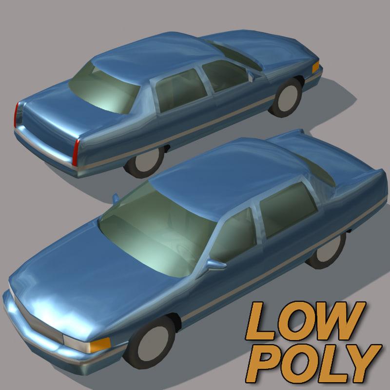 luxury car games 3d model