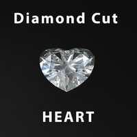 3d heart diamond cut