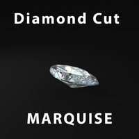 3d marquise diamond cut