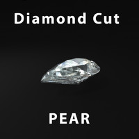 3d pear diamond cut