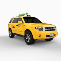 3d model new york suv taxi