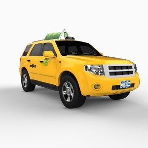 3d model new york suv taxi