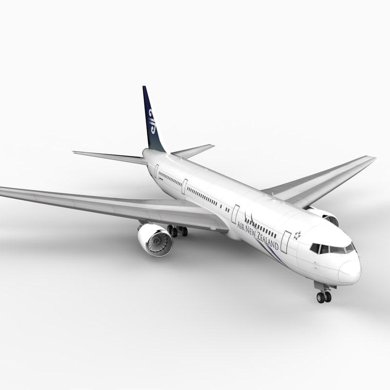 3d model of 767-300 new zealand