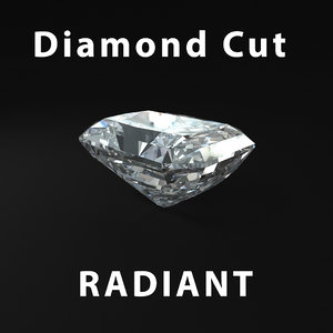 radiant diamond cut 3d model