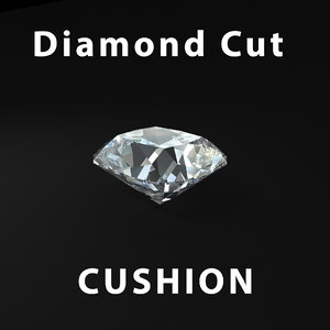 cushion diamond cut 3d model