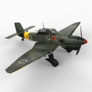 3d model junkers ju-87 stuka ju