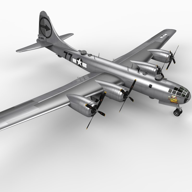 3d b-29 superfortress 2 bomber
