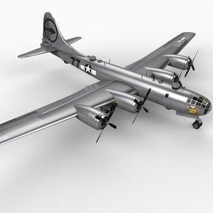3d b-29 superfortress 2 bomber