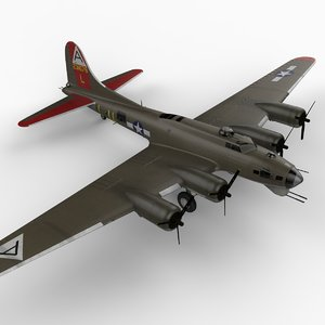 b-17g flying fortress b-17 3d 3ds