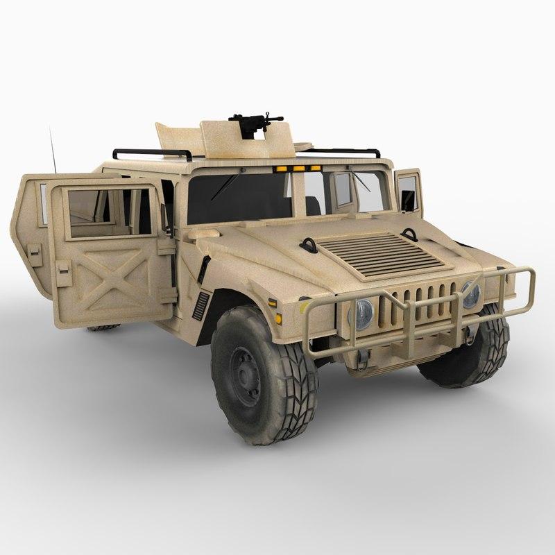 hmmwv hummer military desert storm 3d 3ds