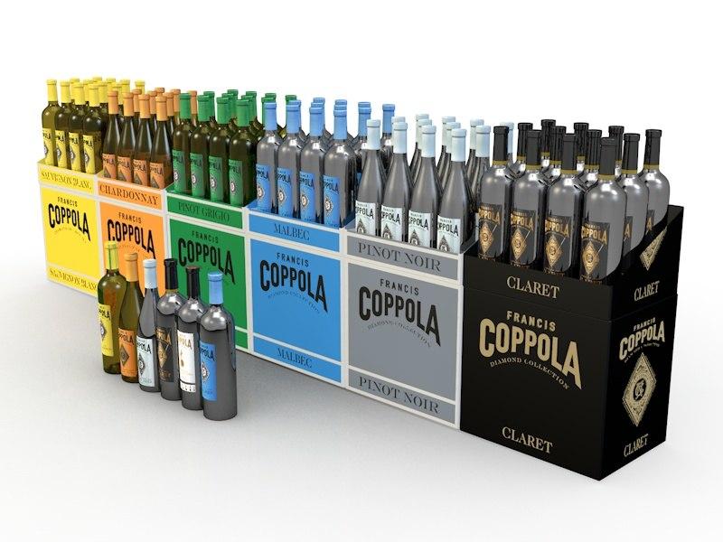 3d 3ds shipper coppola wines