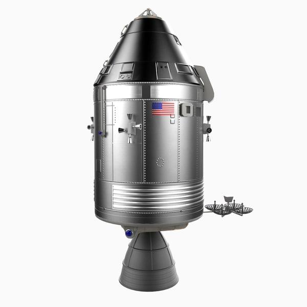 3d model apollo 13 service lunar