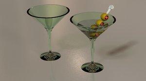 free obj mode martini glass olives