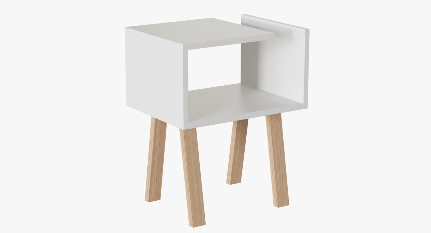 3d uno bedside table model