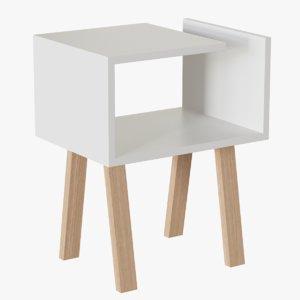 3d uno bedside table model