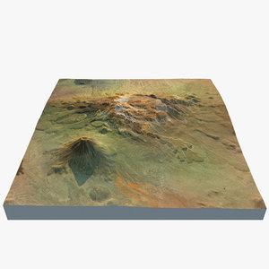 3d volcano landscape 7