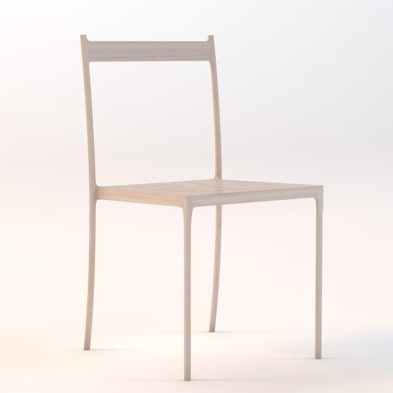 3d model cord chair