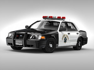 3d obj crown victoria car
